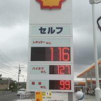豊明市ガソリン看板