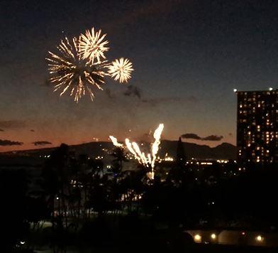 ハワイの花火