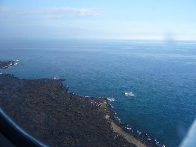 ハワイ島 機内より撮影