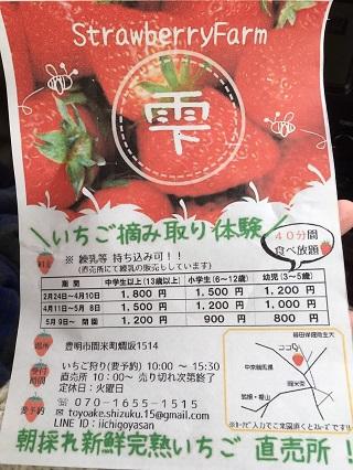豊明市間米町 いちご狩り「Strawberry Farm 雫」
