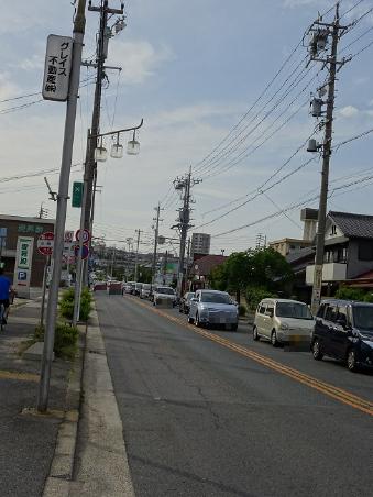 渋滞(豊明市三崎町)