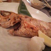 金沢でのどぐろの塩焼き