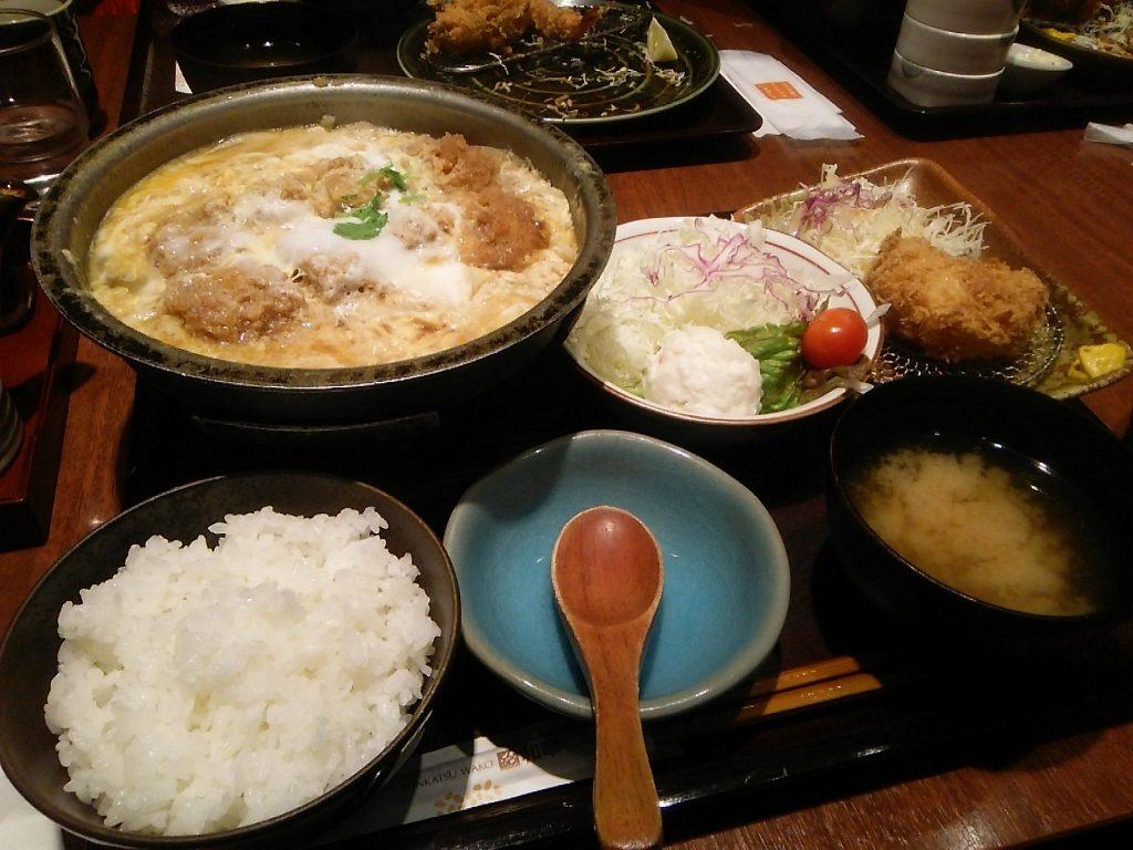 ヒレカツ鍋定食