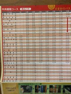 赤ルート時刻表