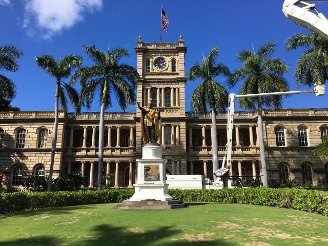 ハワイ オアフ島 カメハメハ大王像